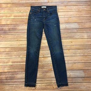 "Madewell 9"" High Riser Skinny Skinny Jeans, 26"